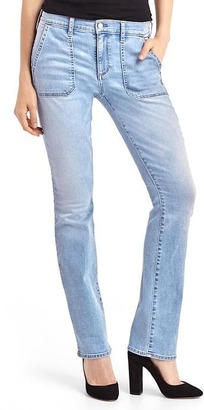Mid rise baby boot jeans $69.95 thestylecure.com