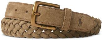 Polo Ralph Lauren Men's Braided Suede Belt
