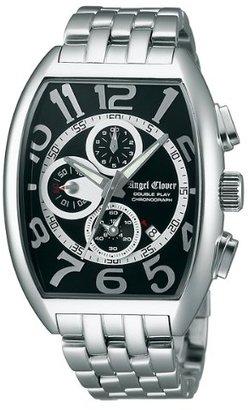 Angel Clover (エンジェル クローバー) - エンジェルクローバー AngelClover ダブルプレイ ブラック/シルバー デイト クロノグラフ DP38SBK [国内正規品] メンズ 腕時計 時計