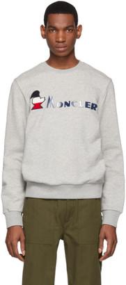 Moncler Grey Monduck Logo Sweatshirt