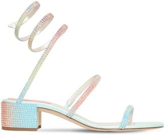 Rene Caovilla 40mm Rainbow Embellished Satin Sandals