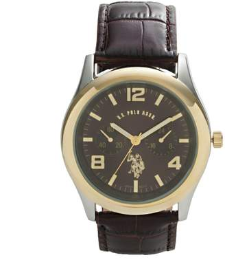 U.S. Polo Assn. Men's Leather Watch - USC50000