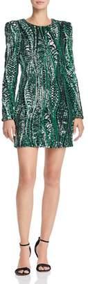 Aqua Sequined Mini Dress - 100% Exclusive