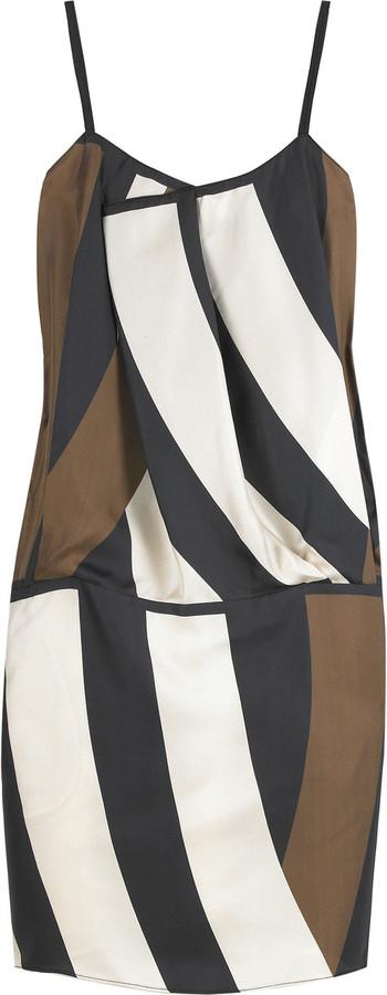 Derek Lam Block print camisole dress