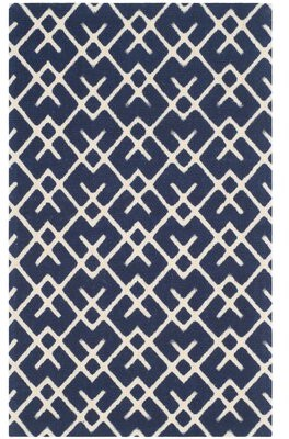 Breakwater Bay Branford Hand-Loomed Cotton Grey/Natural Area Rug Breakwater Bay
