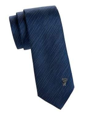 Versace Textured Striped Silk Tie
