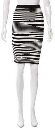 Intermix Patterned Knee-Length Skirt