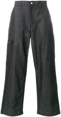White Mountaineering wide leg trousers