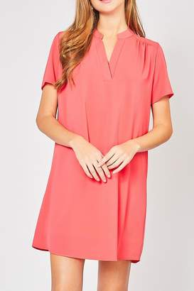 Ami 12pm By Mon Hot Coral Dress