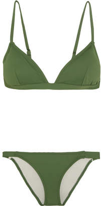 Eberjey So Solid Taylor Triangle Bikini - Dark green