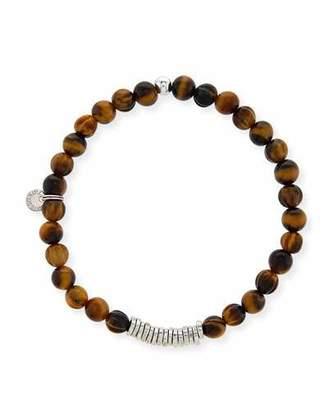 Tateossian Men's Tiger Eye Bead Bracelet $175 thestylecure.com