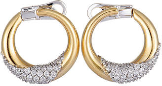 Damiani 18K Two-Tone 0.84 Ct. Tw. Diamond Earrings