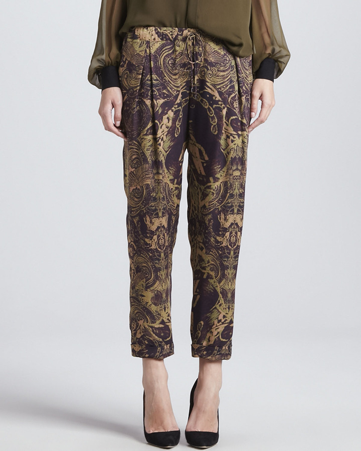 Haute Hippie Silk Trousers with Drawstring