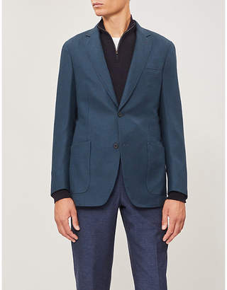 Richard James Single-breasted tailored-fit wool jacket