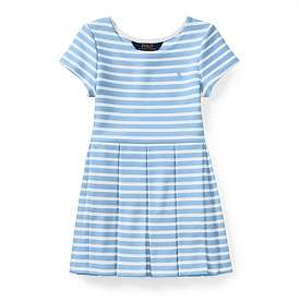 Polo Ralph Lauren Striped Ponte Pleated Dress (5-7 Years)
