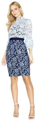 Paper Dolls - Lunel Two Tone Lace Dress With Fluted Cuffs