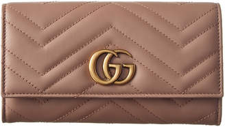Gucci Gg Marmont Matelasse Leather Continental Wallet