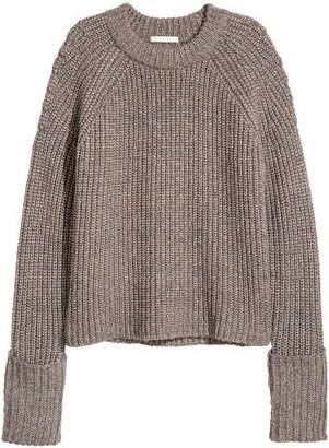 H&M Shimmery Sweater - Brown