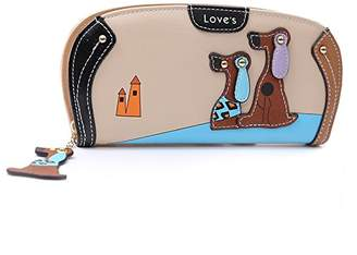 SODIAL(R) New Arrive Fashion Cute Puppy Zipper Long Wallet Cartoon Dog 6 Colors PU Leather Women Wallets Ladies Clutch Card Holder£ ̈£©