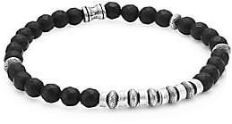 Dakota Jonas Studio Men's Sterling Silver & Onyx Beaded Bracelet
