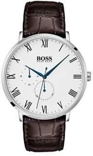 HUGO BOSS William 1513617 Leather Strap Chronograph Watch