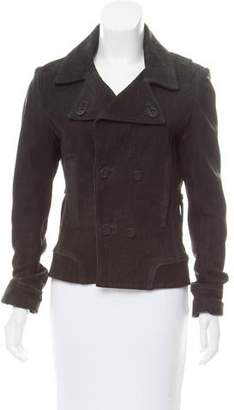 Balenciaga Double-Breasted Suede Jacket