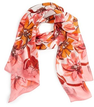 Women's Vince Camuto Brushed Blooms Silk Scarf $48 thestylecure.com