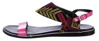 Nicholas Kirkwood Patent Leather Ankle Strap Sandals