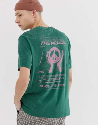 Design DESIGN organic cotton relaxed fit t-shirt with wash and print
