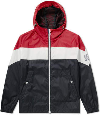 at END Clothing · Moncler Gamme Bleu Tricolour Hooded Jacket
