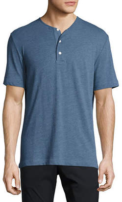 Theory Bound Cast Short-Sleeve Henley