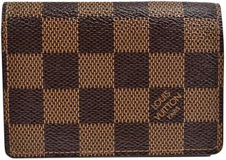 Louis Vuitton Marco Brown Leather Wallets