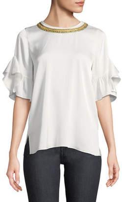 Kobi Halperin Annette Chain-Embellished Blouse