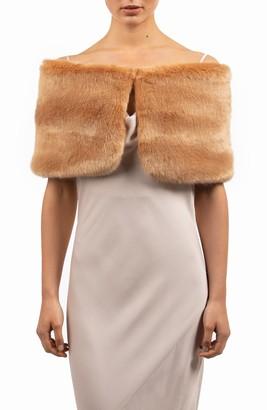 bubish Sofia Faux Fur Shrug