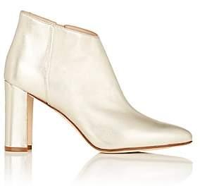 Manolo Blahnik Women's Brusta Metallic Leather Ankle Boots - Gold Leather