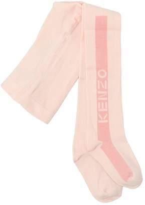 Kenzo Logo Cotton Knit Tights