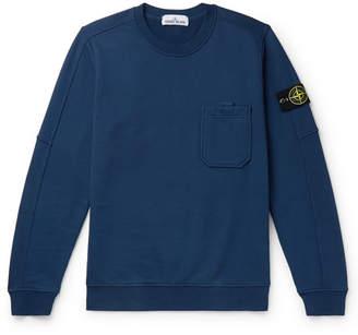 Stone Island Logo-Appliqued Slim-Fit Loopback Cotton-Jersey Sweatshirt