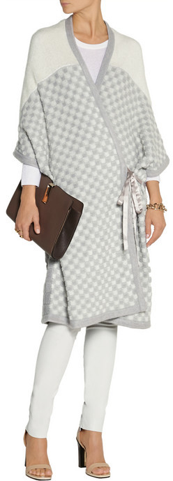 Missoni Patterned knitted wrap cardigan