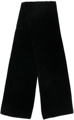 Giorgio Armani Pre-Owned 1990's knitted fringed scarf