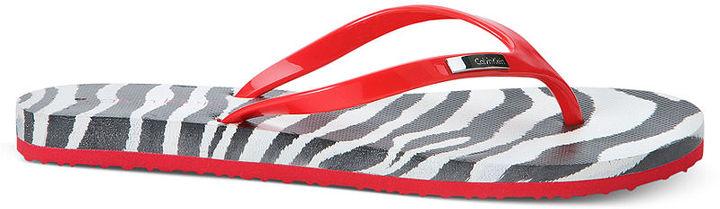 Calvin Klein Women's Shoes, Saiden Flip Flops
