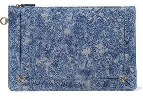 Jerome Dreyfuss Printed Suede Pouch