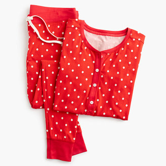 Knit pajama set in polka dot $75 thestylecure.com