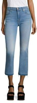 7 For All Mankind b(air) Released Hem Cropped Bootcut Jeans