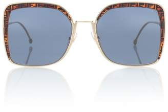 Fendi FF square sunglasses