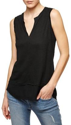 Petite Women's Sanctuary City Linen Knit Tank $44 thestylecure.com