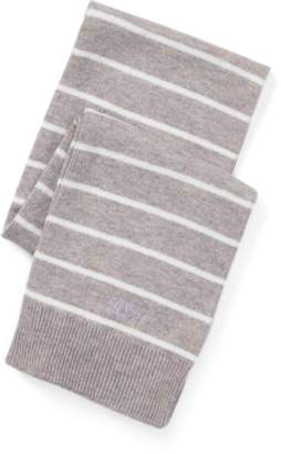 Ralph Lauren Striped Cashmere-Blend Scarf