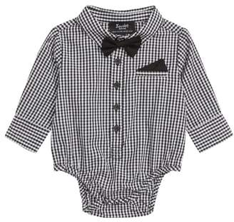 Bardot Junior Gingham Shirt Bodysuit