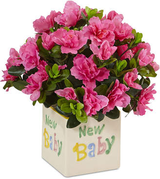 Azalea Nearly Natural Silk New Baby Arrangement