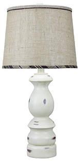 AHS Lighting Keuka Plaid Trim 30 Table Lamp