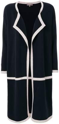 N.Peal contrast trim cardigan